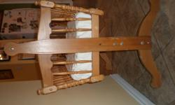 Beautiful wooden swinging cradle perfect for 0-8 months. Has been used in our kitchen for babies daytime sleeping.