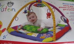 In excellent shape.  Your baby will have hours of fun.  A must for everyone with a baby.  Plays music and has lights.  Play mat is clean and in great condition.  From a pet and smoke free home.   If you are reading this then it is still available.