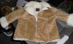 Baby Gap Suede jacket.  Size 12-18 months.  Barely worn as he grew out of it quickly.  Very warm!!  With the winter here I thought that some other baby should look completely adorable.  Pet free and smoke free home.