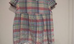 Baby Gap plaid shirt with bottom detail.  Size 2.  From smoke free home; see sellers' other ads.