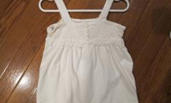 Baby Gap white halter top; size 2.  From smoke free home; see sellers' other ads.