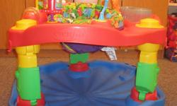 Ok today is your lucky day! If you are an expectant parent and require many items but have a limited budget this will be the ad for you. Fisher Price swing, playmat, bouncy chair, Safety First bathtub, Bright Start activity gym, Evenflo exersaucer. All in