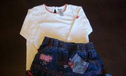 Pictures in order are: 1. George 3 mos (white top, jean skirt) 2. Gap 3-6 mos (stripped top- reversible, pink bottom) 3. Old Navt 3-6 mos (pajamas) 4. Savannah Baby 3-6 mos (light pink) 5. Cheerful Kids 3m (dark blue) 6. Joe 3-6 mos (plaid top, red