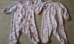 Everything size 18 months. 2 sleepers, 1 pair a pj pants, a summer hat, 2 onesies & a dress. $5 OBO