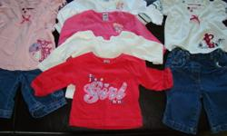Gently used baby girls clothing in size 0-3 months.  Lot includes the following:   7 - Long Sleeve Shirts 3 - Long Sleeve Sleepers 1 - Short Sleeve Onsie 2 - Long Sleeve Onsies 4 - Pair Pants 1 - Dress