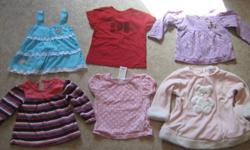 Everything is size 12 months. 10 shirts, 1 pair of overalls, 5 sleepers, 3 pants, 3 sweaters, 1 skirt, 1 onesie & 1 pair of little underwear that goes under a dress. Make an offer.