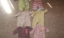 Everything is size 3-6 mo. 6 sleepers, 5 sweaters, 9 onesies, 4 shorts, 3 shirts, 3 pants, 1 dress,  & 1 pair of leotarts.  $30 OBO