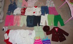 Baby girl clothing 6-9 months.