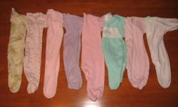16 pairs of 3 to 12 months baby girl sleepers excellent shape no stains or rips.  Smoke and pet free.  Check out my other ads for great baby items!