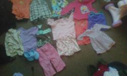 i have lot of cloths for sale 6 and 9 and 12 month cloths girls cloths for sale hole bag brand new washed hardley worn this is 2 bags of girls cloths need gone