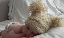 Cute little baby hats, hand knit, made to order