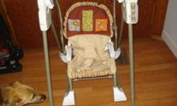 i am selling a baby swing its a 3 in 1 rocker..$30..an infant carseat good until dec 2013 comes with base and headrest.$30...a jolly jumper..$10..hooks to door frame...baby clothes.price varies.also have some shoes i can throw in for the same price.will