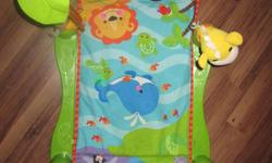 BABY PLAYMAT EXC COND. PLAYS MUSIC. FOLDS UP