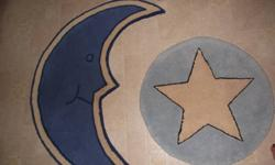 Moon and Star Rug and 2 wall hangings for a baby's room.  Smoke free and pet free home. $20 for everything. Pick up in Lr. Sackville, see my other ads for more baby items.  Sorry no holds.