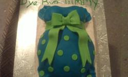Need a cake for a baby shower? I'm a stay at home mom who has recently started cake decorating. I use a marshmallow fondant that tastes much better then the regular kind (just tastes like marshmallows!) affordable pricing, message for more information :)