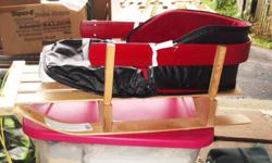 baby sled for sale just like new with nice warm cozy liner asking $ 50.00 i paid 40.00 for the sled and 30.00 for the liner!!