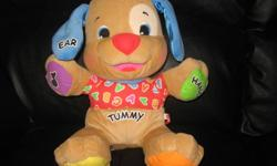 Baby and Toddler toys in gently used condition by one child, all bought brand new, all work like new, from a non smoking/pet free home.  All Retails Over $60.00 And Selling As 1 Lot For $25. Great Deal!! Laugh and learn puppy Leaugh and learn clock brand