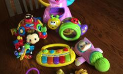 Lot of baby toys. In good and working condition.