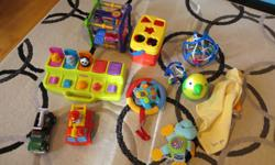 Baby Toys $3 an item. $5 for vintage Wobble Weeble Let me know if you see something you like.