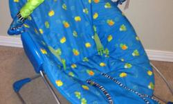 Selling a vibrating chair It was great because it my son right to sleep when he was a newborn Sorry the toys are missing, You can add your own Removable cloth covering for easy cleaning This ad was posted with the Kijiji Classifieds app.