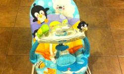 Very gently used baby vibrating chair by Fisher Price.  The chair is in perfect working order and has been fantastic for our daughter - she's just too big for it now. Please see our other ads.