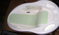 White Saftey First baby bath tub--$5.00 Blue baby bath tub--$5.00 Bath ring that attaches to bottom of tub--$5.00 Jolly jumper with stand--$30.00 Bouncy chair with toy bar --$10.00 White crib- $40.00  SOLD PPU Crib mattress-$20.00 Disney walker-- $40.00