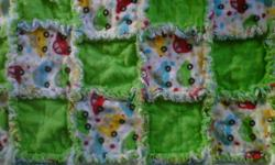 NEW HOMEMADE REVERSIBLE RAG/PATCH QUILT ACCEPTING ORDERS AS WELL CAN CREATE A BLANKET TO FIT YOUR NEEDS PRICE MAY CHANGE DUE TO MATERAIL CHOICES