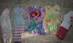 Most of these clothes are like new. names from childrens place, gap, walmart, and superstore. There are jeans, long and short sleved shirts, Pj's, dresses. Asking $80.00 I have now added 2 more pairs of jeans and a Purple reversiable winer jacket with