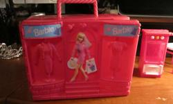"""Excellent Condition. 8.5""""wide x 6.5""""tall x 3.75""""deep. Great for carrying clothes and misc Barbie things. Dolls won't quite fit in in it. Very clean. Must pick up in Central Saanich just off Keating X Road."""