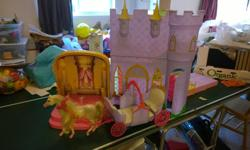 Castle with staircase, beds, furniture horse drawn carriage already sold