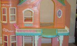 Selling a barbie house its about 2.5ft in height and 2ft in length. It folds in for easy storage. I just bought this barbie house off of kijiji last week for 100 dollars then come to find out someone had already bought my daughter one. Its in great shape
