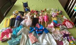 Barbie / Ken doll LOT w/ clothes, and kitchen accessories ... $30.00