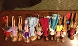I have 11 Barbies and 1 California Ken Doll. All dressed includes Barbie and friends California Dolls, Ballet Barbie and Horse Back Riding Barbie. Misc clothes, shoes, purses and hats included. All in good shape. This ad was posted with the Kijiji