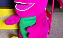 MAKE AN OFFER!! I NEED THESE ALL GONE!!!  I have a box full of Barneys I need gone asap!   First is a huge Barney, he talks/sings $5 Lots of medium-small Barneys, 1 Medium sized Baby Bop and 1 small BJ. Some talk & Sing, other are plush. $10.00   Located