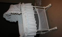Baby Bassinet For Sale.  Hardly Used.  Asking $50.00
