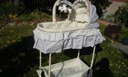 Bassinet/Adjoining Sleeper. Comes with Bassinet, Adjoining sleeper, Change table and Cradle.  Retails for ~$450 - Not Used At All! (Brand New). Please call Kathy @ 477-4918.