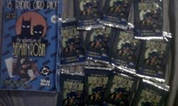 11 Packs of rare Batman & Robin Cards in the package still with box from 1996.   $ 20 firm