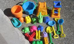 $10 for the entire lot of beach toys, most have never been used.