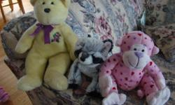 Beanies Webkinz 30 plus and some build a bear clothes. Several bags $30 for all