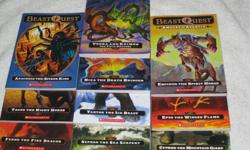 These Chapterbooks are in VERY GOOD to EXCELLENT condition, with slight wear to the corner of the cover for $3.00/each or buy 4 books for $10.00 **SPECIAL: BUY ALL 10 BOOKS FOR $25.00** BEAST QUEST Series by Adam Blade (RL 3) #1 - Ferno the Fire Dragon #2