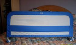 I have a safety rail for a bed fits any size twin, double or queen.   please feel free to contact