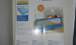 "New bedrail, I bought it but it doesn't fit my baby's crib. The specs are:   54"" wide (137 cm)   24"" tall (61 cm)"