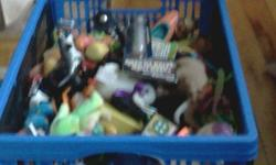 SOME GOOD TOYS AND GAMES IN THIS BASKET GREAT TOYS FOR KIDS!!! I WILL NOT TRAVEL YOU WILL HAVE TO COME TO MY HOME!!