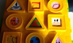 Playskooll blocks works as a puzzle and fun for little ones to stack them up too