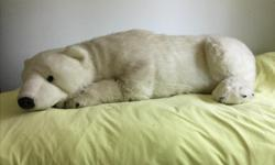 Big polar bear 3ft 5 inches in length.