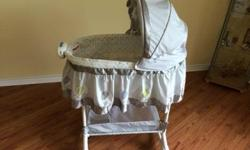 The 2-in-1 Bassinet by Bily helps keep your little one close to you, secure and extremely cozy day or night. Your precious newborn will be soothed with the comforting music, soft lights and very gentle vibrations. This bassinet is a rocker or converts to