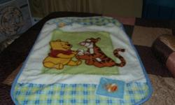 I have a winnie the pooh blanket in excellent condition. comes from smoke free home!