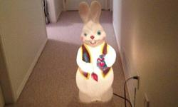 Blow mold Easter Bunny. Just in time for Easter!! Could use a higher watt light bulb. $10 Located in Departure Bay area