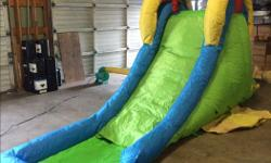 Carnival grade blow up water slide. fully complete and in great condition. Comes with large air blower, ballasts and carry bag. Price is firm. Serious ninquiries only.