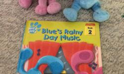 Book, Blue and Magenta stuffies